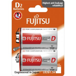 LR20G Blister Μπαταρία αλκαλική Fujitsu Universal Made in Japan
