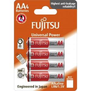 LR6Gplus Αλκαλική μπαταρία Fujitsu Universal blister 4τεμ. Made in Japan