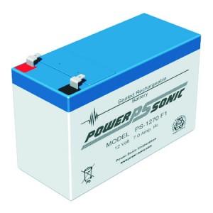 PS-1270 Vds Powersonic μπαταρία μολύβδου κλειστού τύπου 12V - 7Ah (sealed lead acid)