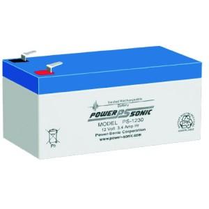 PS-1230 VdsPowersonic μπαταρία μολύβδου κλειστού τύπου 12V - 3.4Ah (sealed lead acid)