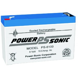 PS-6100F Powersonic μπαταρία μολύβδου κλειστού τύπου 6V - 10Ah (sealed lead acid)