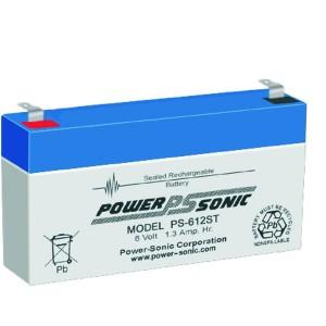 PS-612ST Powersonic μπαταρία μολύβδου κλειστού τύπου 6V - 1.3Ah (sealed lead acid)