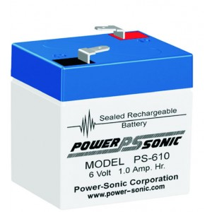 PS-610 Powersonic μπαταρία μολύβδου κλειστού τύπου 6V - 1Ah (sealed lead acid)