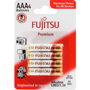LR03G Αλκαλική μπαταρία Fujitsu Premium blister 4τεμ. Made in Japan