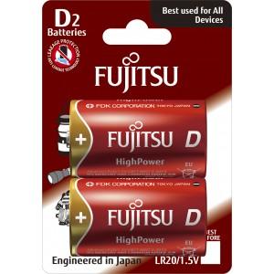 LR20G blister 2τμχ. Μπαταρία αλκαλική Fujitsu High Power Made in Japan