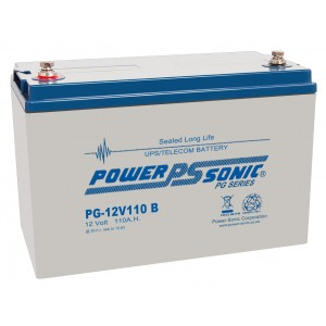 PG12V110 Powersonic Μπαταρία μολύβδου κλειστού τύπου  για UPS 12V - 110Ah (sealed lead acid)