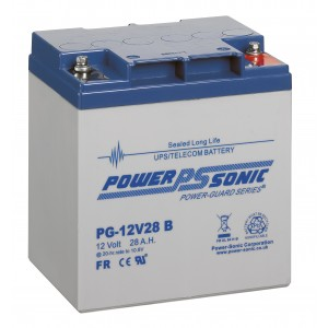 PG12V28 Powersonic Μπαταρία μολύβδου κλειστού τύπου  για UPS 12V - 28Ah (sealed lead acid)