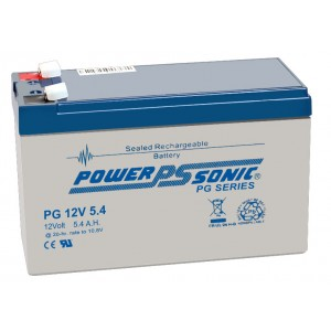 PG-12V5.4 Powersonic Μπαταρία μολύβδου κλειστού τύπου για UPS 12V - 5.4Ah (sealed lead acid)