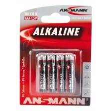 Μπαταρία Αλκαλική Ansmann 1.5V 1050 mAh μινιόν LR3 AAA