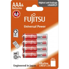 LR03G Αλκαλική μπαταρία Fujitsu Universal blister 4τεμ. Made in Japan
