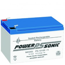PS-12120 Vds Powersonic μπαταρία μολύβδου κλειστού τύπου 12V - 12Ah (sealed lead acid)