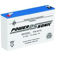 PS-670 Powersonic μπαταρία μολύβδου κλειστού τύπου 6V - 7Ah (sealed lead acid)