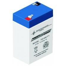 PS-640F Powersonic μπαταρία μολύβδου κλειστού τύπου 6V - 4.5 Ah (sealed lead acid)