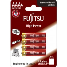 LR03 αλκαλική μπαταρία blister 4τεμ Fujitsu High Power Made in Japan
