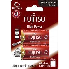 LR14 Αλκαλική μπαταρία Fujitsu High Power blister 4τεμ Made in Japan
