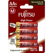 LR6 Αλκαλική μπαταρία Fijitsu High Power blister 4τεμ. Made in Japan
