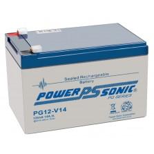 PG-12V14 Powersonic Μπαταρία μολύβδου κλειστού τύπου  για UPS 12V - 14Ah (sealed lead acid)