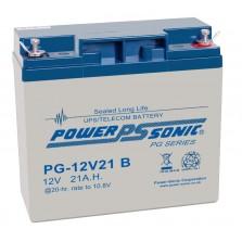 PG12V21 Powersonic Μπαταρία μολύβδου κλειστού τύπου  για UPS 12V - 21Ah (sealed lead acid)