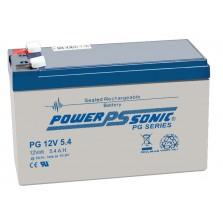 PG12V5.4 Powersonic Μπαταρία μολύβδου κλειστού τύπου για UPS 12V - 5.4Ah (sealed lead acid)
