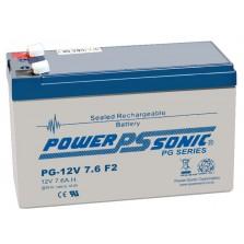 PG12V7.6 Powersonic Μπαταρία μολύβδου κλειστού τύπου  για UPS 12V - 7.6 Ah(sealed lead acid)