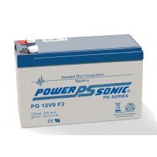 PG12V9 Powersonic μπαταρία μολύβδου κλειστού τύπου για UPS 12V - 8.5Ah (Sealed lead acid)