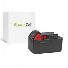 PT143 (5000mah) Μπαταρία Green Cell για εργαλείο M18PP2A-32C 18V Milwaukee
