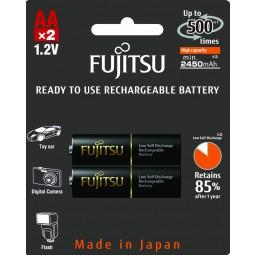 HR-3UTHC AA 2450mAh R.U. (2B) μαύρη Fujitsu Επαναφορτιζόμενη Ready To use